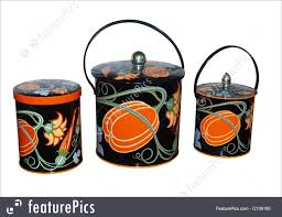 old fashioned kitchen canisters kitchen three antique kitchen containers stock image i2109190