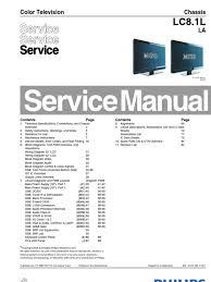 manual de servicio lcd philips modelo lcd 42pfl3403 chasis lc8 1l