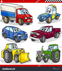 cars characters cartoon vector illustration cars trucks vehicles stock vector