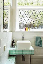 How To Frost A Bathroom Window 9 Styling Tips For Bathrooms With Windows Brit Co