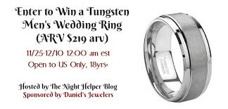 win a wedding ring enter to win a tungsten men s wedding ring arv 219 arv from