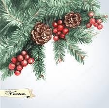 vector watercolor christmas card u2014 stock vector ann art 36010339