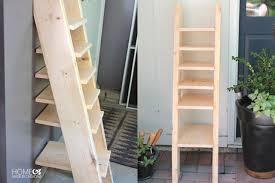 Diy Ladder Bookshelf How To Build Ladder Shelf Leaning Tower Of Shelves Family Handyman