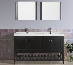 aquamoon rimini 59 3 4 espresso double sink bathroom vanity