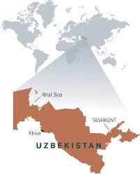 Aral Sea Map A Visit To Uzbekistan