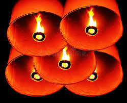 candle balloon thai balloon stock image image of candle culture 22781987
