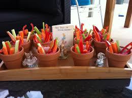 peter rabbit vegetable garden vegetable sticks and dip made in