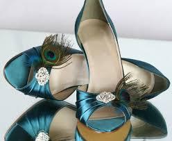 Peacock High Heels Wedding Shoe Peacock Shoe Teal Wedding Shoe Peacock