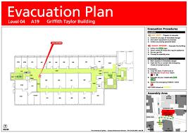 Evacuation Floor Plan Template Building Emergency Evacuation Plans Whs The University Of Sydney