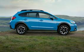 blue subaru 2017 comparison subaru crosstrek hybrid 2016 vs subaru outback