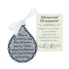 personalized remembrance ornaments tear shaped memorial ornament the catholic company