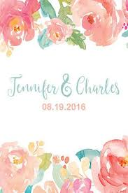 wedding backdrop font custom flower wedding floral backdrop blush water color any text
