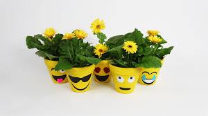 how to make emoji flower pots simplemost