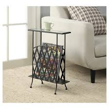 Glass Top Side Table Wyoming Wrought Iron Glass Top Side Table Convenience Concepts