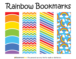 free printable rainbow bookmarks download the pdf template at