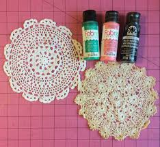 fresh summer watermelon doily craft cheap eats and thrifty crafts