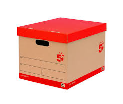 5 star office storage box for 5 a4 lever arch files red u0026 white
