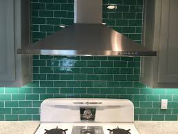 kitchen interior kitchen backsplash glass tile green throughout