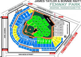 fenway park seating map fenway park seating chart concert tour and