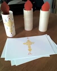 kids u0027 craft for easter the paschal candle it u0027s a very tall
