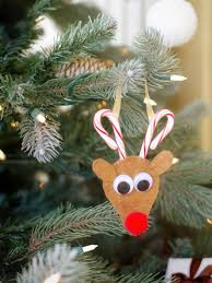 reindeer ornaments how to make a candy reindeer ornament hgtv