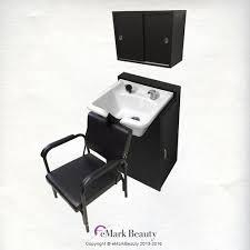 Shampoo Cabinet Polished Stainless Steel Shampoo Bowl Shampoo Cabinet And Chair