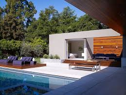 modern u shaped residence built around a central leisure courtyard