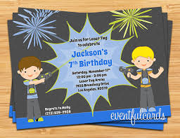 laser tag birthday party invitation printable by eventfulcards