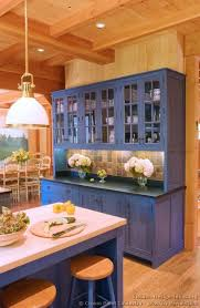 blue kitchen cabinets in cabin for some using blue color for kitchen may sound