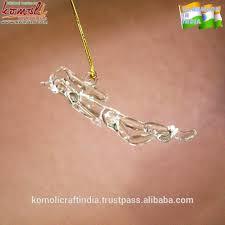 colgante de cristal del buzo estatuilla ornamento de navidad