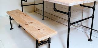 how to make a dinner table how to wood and iron bench and table iron pipe dinner table and