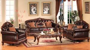 Traditional Living Room Sets Pearl Color Leather Traditional Living Room Set 652 Intended For