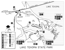 Texas State Parks Map Oklahoma State Parks Campsite Reservation System