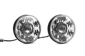 jeep black headlights kc hilites gravity led pro 7