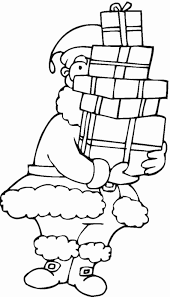 santa claus coloring pages printable kids with free of kids