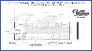 custom food truck floor plan samples prestige custom food truck