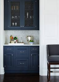 A Casual Comfy Bachelor Pad Masculine Kitchen Chelsea Gray And - Blue kitchen cabinets