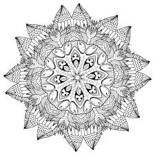 5 free printable coloring pages mandala templates free