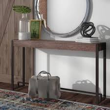 sofa console table long console sofa and entryway tables you ll love wayfair