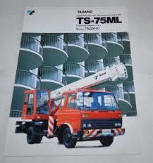 tadano ts 75ml truck cranes japanese russian brochure prospekt ebay