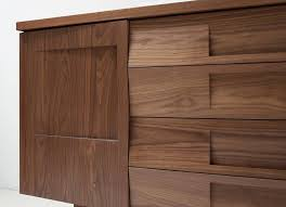 estate by rsi wood composite multipurpose cabinet workstead credenza in walnut with solid wood faceted doors for sale