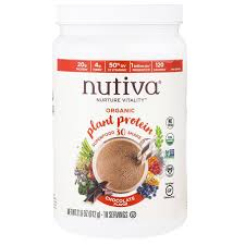 nutiva organic plant protein chocolate flavor 21 6 oz 612 g