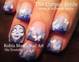robin moses nail art the corpse bride nail art famous halloween