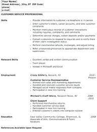 sample resume for customer service associate example customer