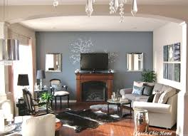 Living Room Decorating A Large Wall In Luxury With Black Furniture - Decorating ideas living room furniture arrangement