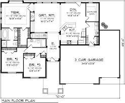 3 bedroom ranch house plans 3 bedroom rambler floor plans open concept ranch house plans new 3