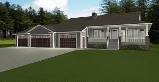 small house plans 3 car garage