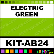 electric green advanced airbrush spray paints kit ab24