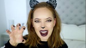 quick u0026 easy halloween cat makeup tutorial ad tanya burr youtube