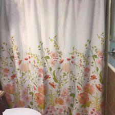 Pink Flower Shower Curtain Threshold Cottage Floral Shower Curtains Ebay